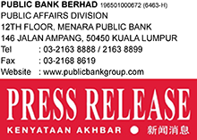 Public Bank Group Posted Pre-Tax Profit Of RM4.81 Billion For The Nine Months Ended September 2020