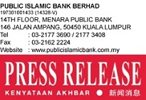 "Public Islamic Bank ""Go Green Campaign"" Distinctively for Energy Efficient Vehicle (EEV)"