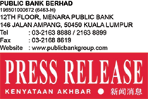 Public Bank to Hold Repayment Assistance Clinics